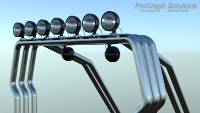A rendering of a light bar design that is currently a work in progress.