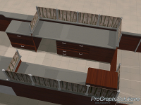 Another rendering showing in a little more detail the layout of the kiosk.