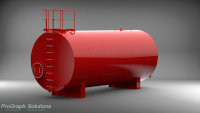Fire retardant chemical storage tank