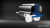 Rendering of a 6000L fuel truck body.